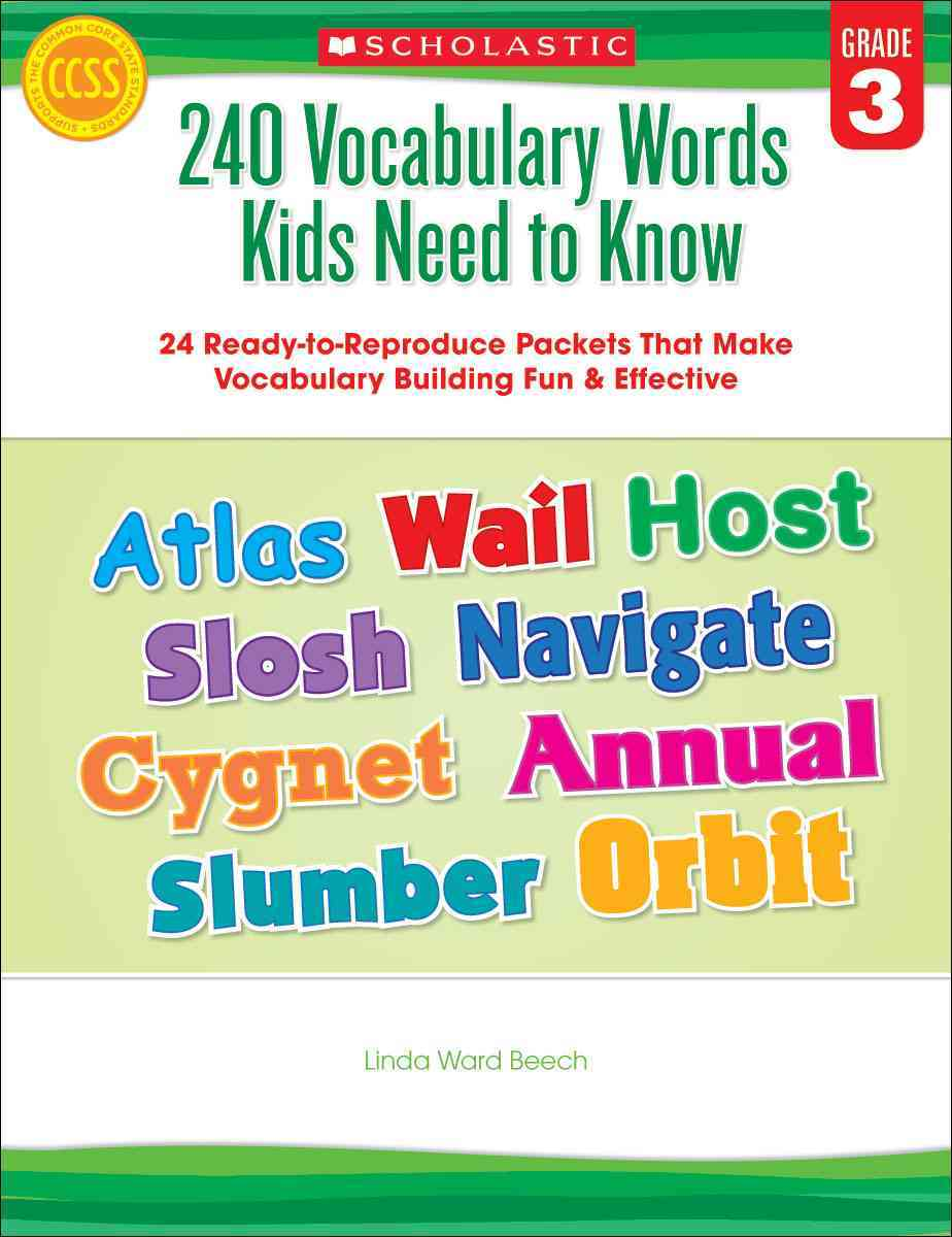240 Vocabulary Words Kids Need to Know: Grade 3 By Beech, Linda Ward